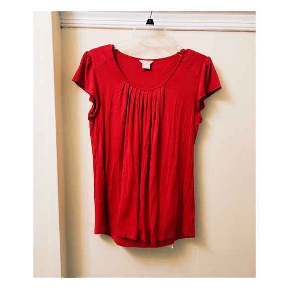 MICHAEL Michael Kors Tops - 🌿{5 for $25} Michael Kors Red Ruched Top